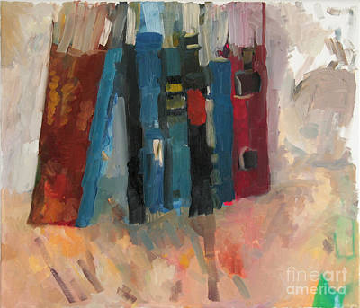 Talmud Painting - Holy Books Three by David Baruch Wolk