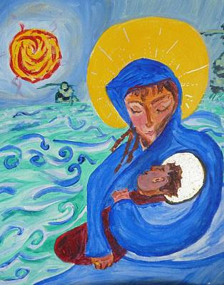Book Of Isaiah Painting - Holy Child And Holy Mom by Carolina Liechtenstein