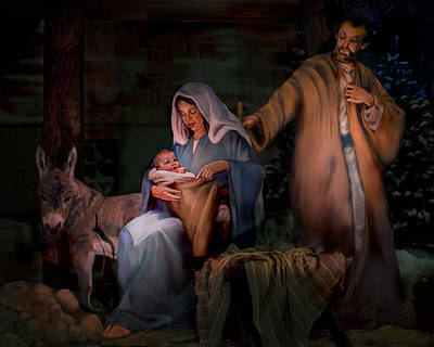Navidad Painting - Holy Child by Jean Hildebrant