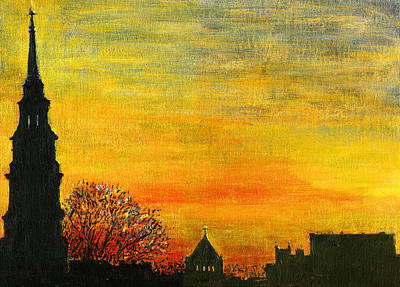 Painting - Holy City Sunset by Thomas Michael Meddaugh