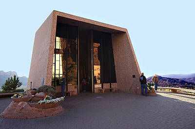 Photograph - Holy Cross Or Red Rock Chapel Rear View by Bob and Nadine Johnston