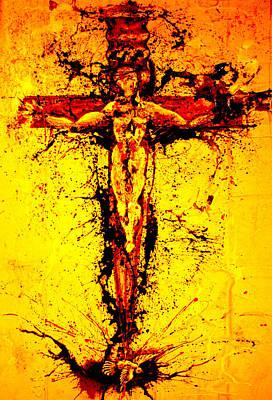 Giorgio Painting - Holy Cross Unholy Sword by Giorgio Tuscani