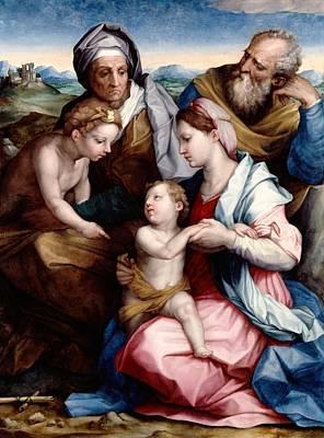 London Painting - Holy Family by Andrea del Sarto