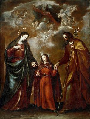 Half God Painting - Holy Family by Francisco Camilo