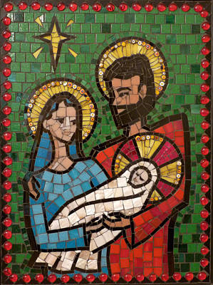 Holy Family II Print by Julie Mazzoni