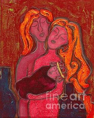 Agnus Painting - Holy Family by Jennifer Wilkinson Rynbrandt