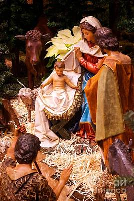 Frank J Casella Royalty-Free and Rights-Managed Images - Holy Family Nativity by Frank J Casella