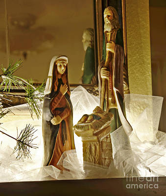 Photograph - Holy Family Nativity Scene Christmas Art Prints by Valerie Garner