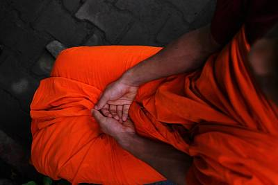 Bangalore Photograph - Holy Hands, Of A Young Buddhist Monk by Drop Of Life