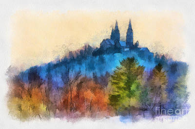 Holy Hill Autumn Art Print by Clare VanderVeen