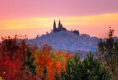 Church On The Hill Photograph - Holy Hill In The Fall by Anna-Lee Cappaert