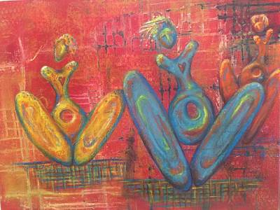 Painting - Holy Holey Wholey Vessels by Suzan  Sommers