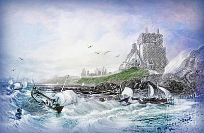 Holy Digital Art - Holy Island - Lindisfarne by Lianne Schneider