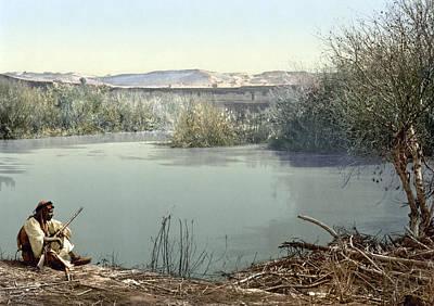 Jordan Painting - Holy Land River Jordan by Granger