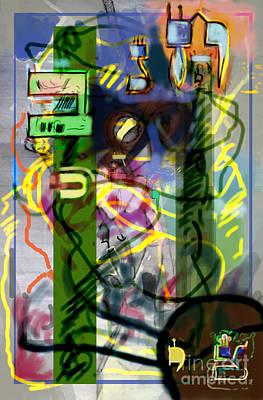 Holy Alphabet Digital Art - Holy Letters 2c by David Baruch Wolk