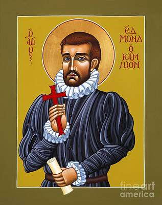 Painting - Holy Martyr Edmund Campion 103 by William Hart McNichols