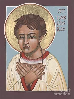Painting - Holy Martyr St. Tarcisius Patron Of Altar Servers 271 by William Hart McNichols