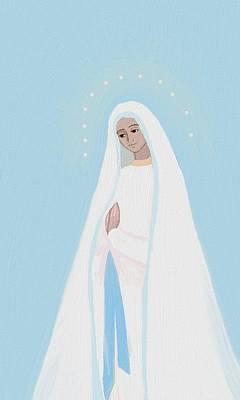 Prayer Painting - Holy Mary  by  Alice Butera
