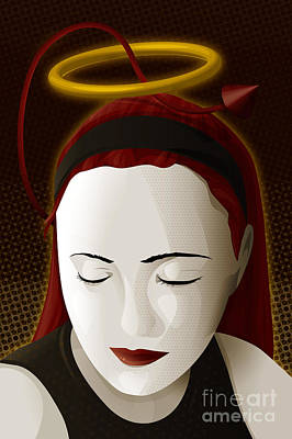Digital Art - Holy Mary by Sandra Hoefer