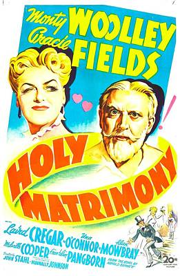 Holy Matrimony, Us Poster, Top Art Print by Everett