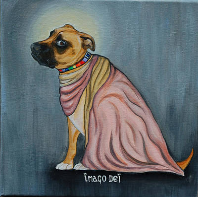 Godly Painting - Holy Meatball  by Lauren Hammack