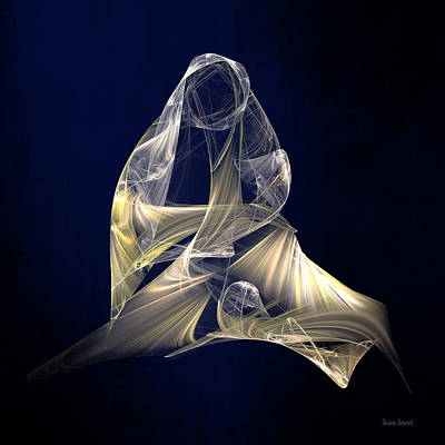 Mother Mary Digital Art - Holy Mother And Child Abstract II by Susan Savad