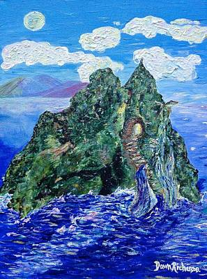 Painting - Holy Mountain / Skellig Michael / Kerry Knowings by Dawn Richerson