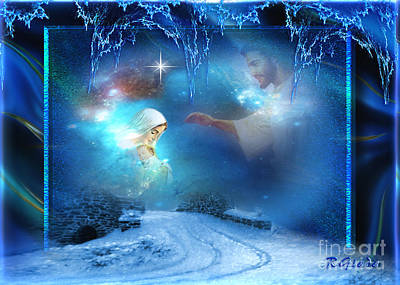 Mother Mary Digital Art - Holy Night - Christmas Art By Giada Rossi by Giada Rossi