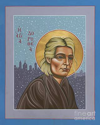 Painting - Holy Prophet Dorothy Day 154 by William Hart McNichols