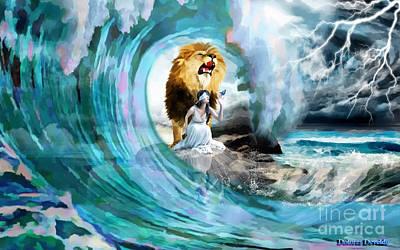 God Mixed Media - Holy Roar by Dolores Develde