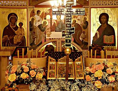 Photograph - Holy Saturday At St Mary Magdalen Church 2 by Sarah Loft