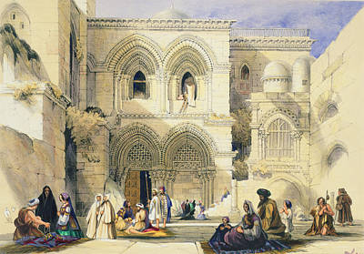 Pilgrimmage Drawing - Holy Sepulchre, In Jerusalem by A. Margaretta Burr