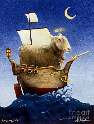 Painting - Holy Sheep Ship... by Will Bullas
