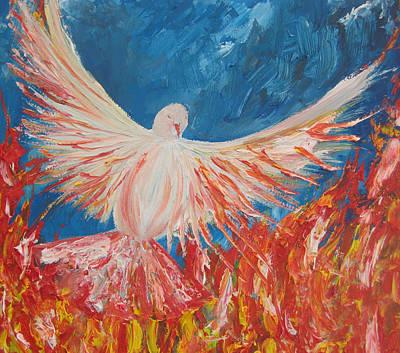 Holy Spirit Painting - Holy Spirit Of Fire by Rachael Pragnell