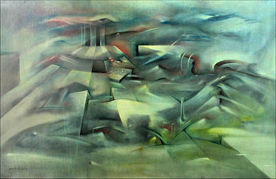 Painting - Holy Trinity 1991 by Glenn Bautista