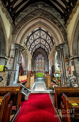 Religious Stain Glass Photograph - Holy Trinity by Adrian Evans
