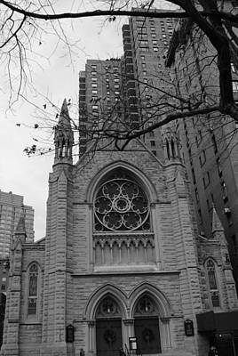 Photograph - Holy Trinity Church Black And White by Robert  Moss