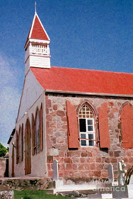 Painting - Holy Trinity Church On Saba by Susan Schroeder