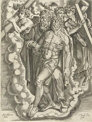 Bos Bos Drawing - Holy Trinity, Cornelis Bos by Cornelis Bos
