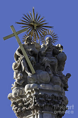 Photograph - Holy Trinity Doctrine Sculpture Budapest Statue by Phil Cardamone