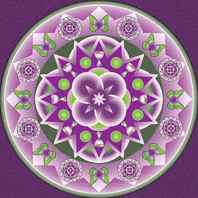 Digital Art - Holy Week Mandala by Linda Pope