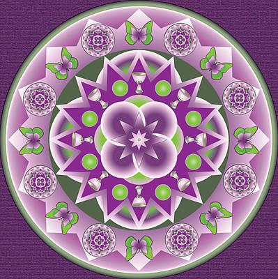 Holy Week Mandala Art Print by Linda Pope