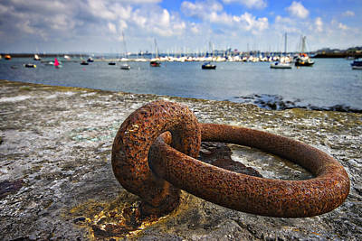 Photograph - Holyhead Harbor Wall by Meirion Matthias