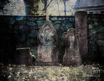 Religious Art Digital Art - Holyhood Cemetery Stones by Sonja Quintero