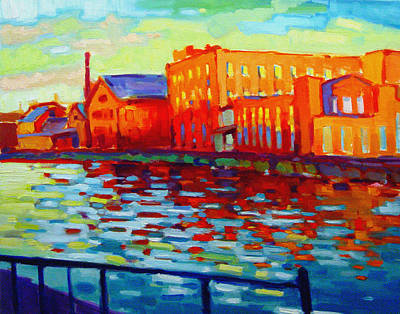 Holyoke Canal Print by Caleb Colon