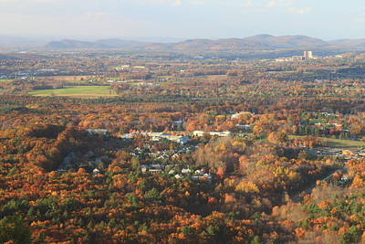 University Of Connecticut Photograph - Holyoke Range Foliage View From Bare Mountain by John Burk