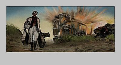 Sergio Leone Digital Art - Homage To Duck You Sucker Aka A Fistful Of Dynamite by Aaron McElfish