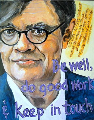 Painting - Homage To Garrison Keillor by Edith Hunsberger