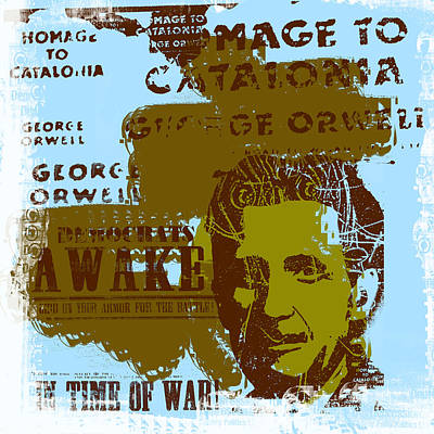Homage To 'george Orwell' Art Print by Jeff Burgess