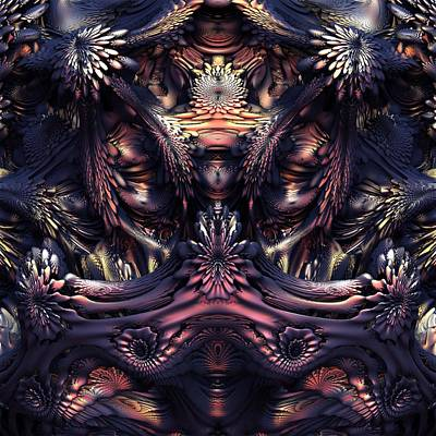 Creepy Digital Art - Homage To Giger by Lyle Hatch